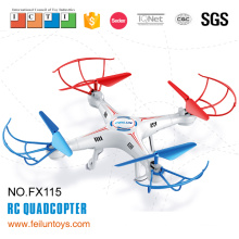 2.4G 4CH 6-axis white rc micro drone with 0.3mp camera and led